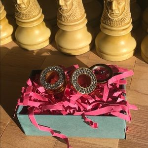 """1/2"""" Flared gold sparkling screw-on back plugs"""